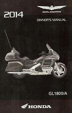 2014 HONDA GOLDWING GL1800/A MOTORCYCLE OWNERS MANUAL -GL 1800 GOLD WING