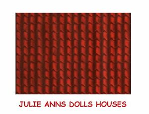 DOLLS HOUSE RED TILE ROOF MINIATURE WALL PAPER, 12 TH SCALE NEW