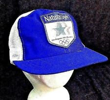 Vintage USA Natural Light 80s Los Angeles Olympics Patch Trucker Mesh Hat Beer