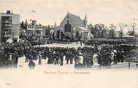 POSTCARD  HAMPSHIRE - PORTSMOUTH - GARRISON CHURCH - ANIMATED SCENE - CIRCA 1924
