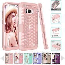 SHINE HYBRID HARD Case For Samsung Galaxy Note 8 S8 / S8 PLUS Rubber Phone Cover