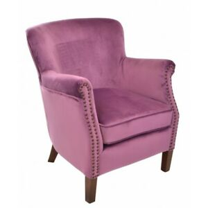 Ancient Mariner Armchair in Plum Velvet - Small Comfy Handmade Armchair