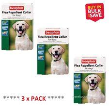Beaphar Collare Antipulci Repellente per cani impermeabile Band tiene lontano le pulci 65cm x 3 PACK ***