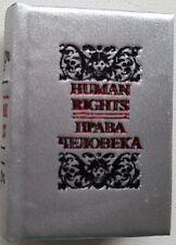 """Modern Mini 2"""" Livre Droits de l'Homme Russe Anglais Français Souvenir Cadeau"""