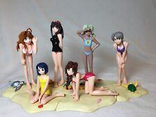 6 Love Hina Summer Beach Collection Bikini Girls Swimsuit Figures Anime Set