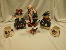 4Th Of July Decorations Christmas In July Santa Uncle Sam Snowman Bold Eagle
