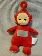 """Teletubbies Po Red Plush 7"""" Spin Master Vintage Interactive Cuddling Doll"""