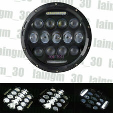"7"" INCH 75W LED Headlight Hi/Lo Beam DRL For Jeep Wrangler CJ JK LJ"