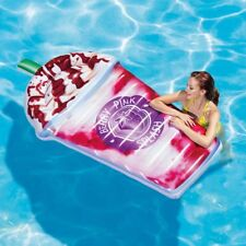 Intex Inflatable Berry Pink Splash Milkshake Pool Float Lounger Beach Mattress