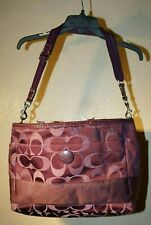 Rare Coach F20037 Legacy Stripe Purple Tote or Diaper Bag see for more details