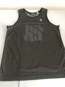 Vintage Undefeated UNDFTD Barb Wire Camo Tank Top sz S Black Gray