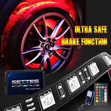 SETTES All-Color Wheel Well LED Light Kit 4pc Custom Accent Neon Strips Rim Tire