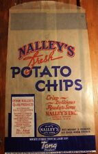 VINTAGE UNUSED NALLEY'S FRESH POTATO CHIPS BAG TANG 3oz BAG 1950s 1960s WAXPAPER