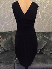 Jane Norman Tulip Shape Dress Size 10 Navy Blue