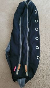 Manduka Cotton Canvas Vented Large Yoga Mat Carrier Bag Go Steady Black Preowned