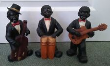 3 JAZZ BAND MUSICIANS FIGURINES / STATUES