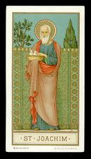 antico santino cromo-holy card  S.GIOACCHINO beuron