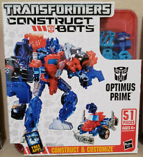 Transformers Construct Bots Optimus Prime & Megatron lot of 2! 100% Complete!!!