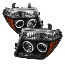 Fit 05-08 Frontier / 05-07 Pathfinder Black CCFL Halo LED Projector Headlights