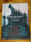 RISE AGAINST - 2018 WOLVES AUSTRALIA Tour - Laminated Promo Poster