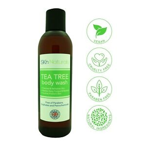 SKN TEA TREE ANTIBACTERIAL SHOWER GEL & NATURAL ANTIFUNGAL BATH & BODY WASH