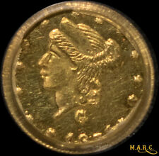 1871 MS63 PCGS 25C Fractional California Gold, a Rare Brilliant Little Gem! MARC