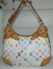 Louis Vuitton Greta White Multicolor Monogram Leather Handbag Purse Shoulder Bag