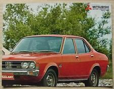 MITSUBISHI COLT LANCER & GALANT Car Sales Brochure Poster Aug 1974
