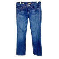 William Rast Size 25 Blue Medium Wash Low Rise Belle Capri Jeans Flap Pockets