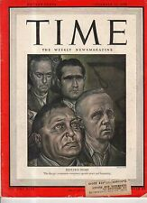 1945 Time December 10 - Hitler's heirs; Nurnberg Trials begin; LaGuardia; Davis