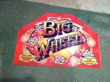big wheel arcade coin pusher plexi marquee #1
