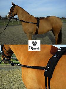 HORSE TRAINING AID - Rhinegold Breaking Set, Roller Side Reins PONY COB FULL