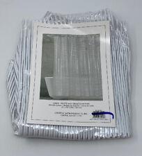 Creative Bath Linea White Vinyl Shower Curtain