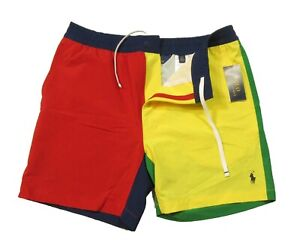 "Polo Ralph Lauren Men's Multicolor Polo Prepster 6"" Swim Trunks"