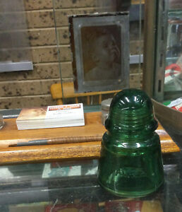 Vintage Agee Glass Insulator With Manganese Glow