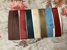 1 yard Each Of 7 Colors Of Vintage Silk Ribbon Dolls Hats Or To Make Roses