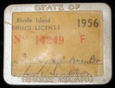 ANTIQUE 1950'S RI RHODE ISLAND FISHING LICENSE SPORTSMAN OUTDOOR PIN 3 TAGS !