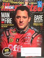 "2012 Nascar Illustrated Magazine Autographed by Smoke Tony Stewart ""Man on Fire"""