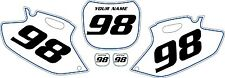 2001-2002 Yamaha YZF250 Custom Pre Printed White Backgrounds with Blue Pinstripe