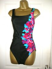10 SWIMSUIT MIRACLESUIT BLACK FLORAL TUMMY AND UNDERWIRED BUST CONTROL QUALITY