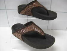 size UK 3 36 Ladies F&F get fit FLIP FLOPS sandals toning shape up gold toeposts