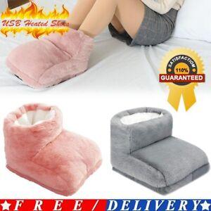 USB Electric Foot Warmer Heated Feet Soft Relaxing Detachable Heater Pad UK