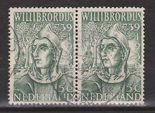 NVPH Nederland Netherlands 323 pair TOP CANCEL RIJSWIJK Willibrordus 1939