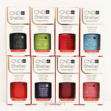 PICK ANY 7 CND Shellac Gel UV Soak off Gel Colors Coat Kit 7.3ml 0.25 fl oz SET