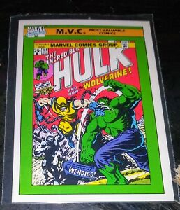 """1990 Impel Marvel """"Most Valuable Comic"""" 1974 Incredible Hulk #181 - Card #134"""