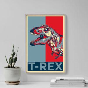 Tyrannosaurus Rex Art Print 'Hope' - Photo Poster Gift - T-Rex Dinosaur