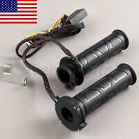 """Pair 7/8"""" Motorcycle ATV Electric Heated Molded Hand Grips Warmers Handlebar"""