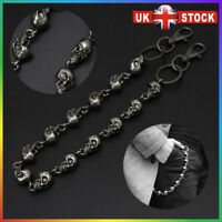 Chrome Plated Double Chains Style Gothic Jean Metal Wallet Key Chain Y13604