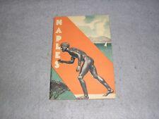 1936 Naples Italy Italian Travel Brochure Tourism ENIT Tour Guide Book WWII Era