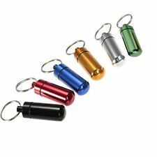 Porte Clé Étanche Médicament Pilulier Pilule Mini Aluminium Boite Rangement